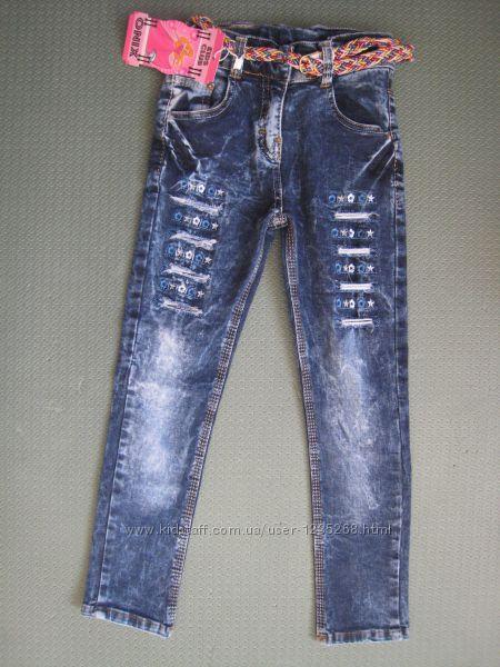 Детские джинсы на девочку на 5-10 лет