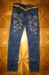 Детские джинсы на девочку рр. 116-140