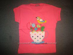 Детская футболка для девочки Птичка