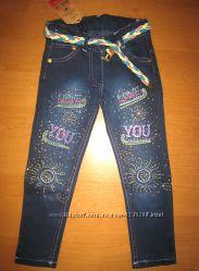 Детские джинсы для девочки 2-6 лет Beebaby Бибеби