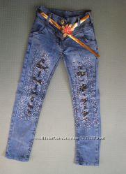 Детские джинсы на девочку рр. 92-122 Beebaby Бибеби
