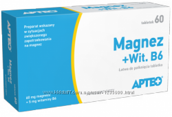 Польские витамины магний  В6 375 мг магния, два вида магния В6