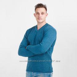 Пуловер классический с рисунком ромбом джинсовый тм Diko