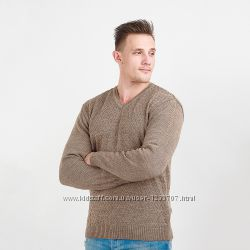 Пуловер классический с рисунком ромбом какао тм Diko