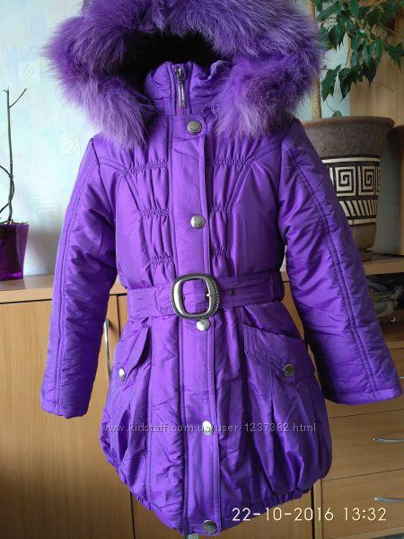 Зимняя куртка-пальто для девочки фирма DONILO- 116, 122 и 128 размеры