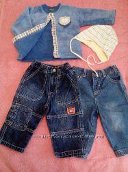 Джинсы, штаны на мальчика 6-9-12 мес, 74-80 см