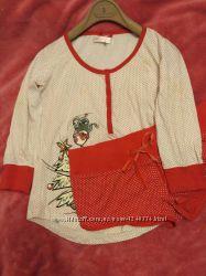 Пижама кофта и шорты