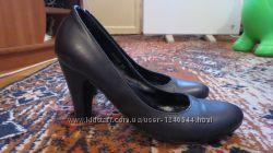 Туфли кожаные черные класика 37р.