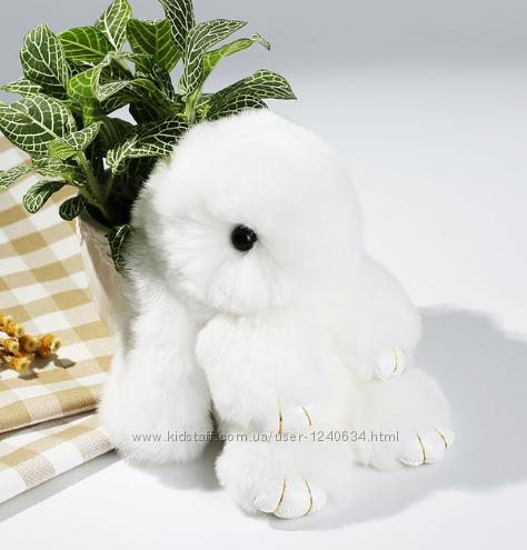 Меховой Кролик брелок зайка Rex Fendi Фенди игрушка на сумку 18см с кольцом