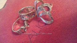 кольца серебро с золотом