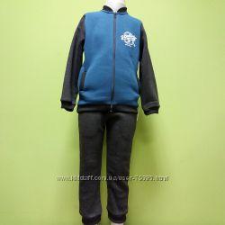 98-110 Теплый спортивный костюм с начесом для мальчика