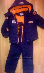 Продам зимний костюм куртка и полукомбинезон 110 рост