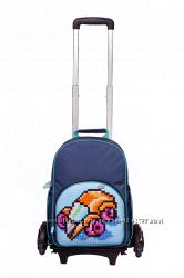 Рюкзак на колесах Upixel Rolling Backpack синий и розовый