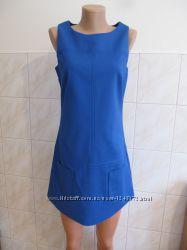 Платье сзади на замке цвет электрик от blanco