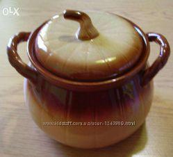 Продам керамическую кастрюлю Тыква