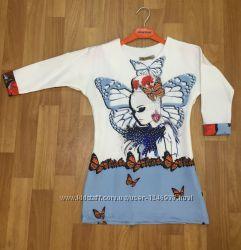 Платье-туника на 7, 8 лет. Производство Турция.