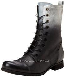 Черные с градиентом кожаные ботинки на шнуровках бренд Diesel  р. 37, 5