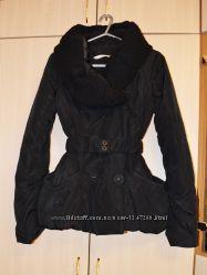 Курточка осень-зима с вязаным воротником