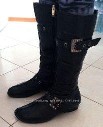 Зимние кожаные сапоги, 39 размер, Турция