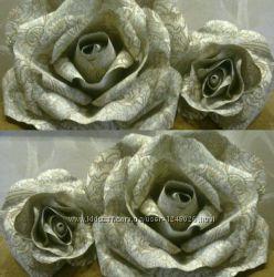 Большие цветы из бумаги. Помпоны