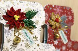 Новогодние handmade-открытки Валенки