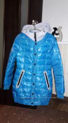 очень теплое, пальто-пуховик, размер XS, натуральный пух