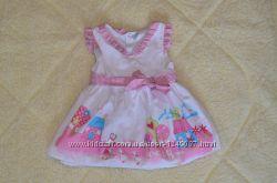 Нарядное хлопковое платье с подъюбником, состояние нового
