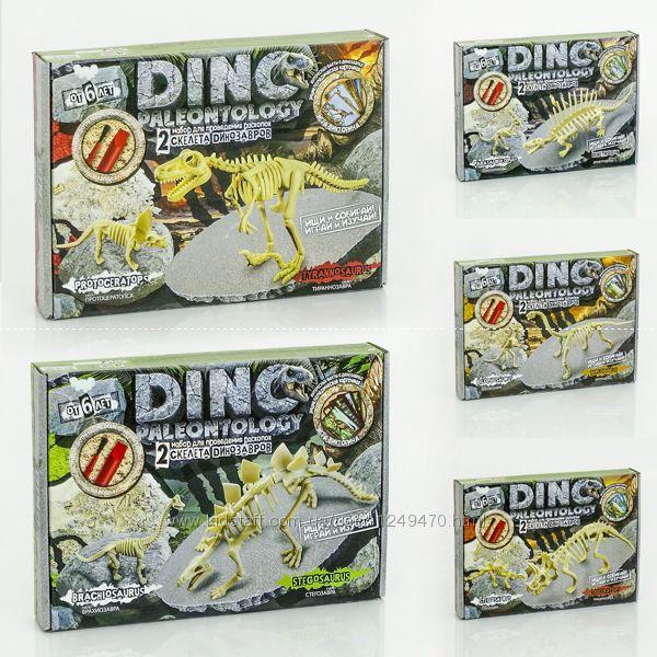Раскопки динозавров DINO PALEONTOLOGY 2-а динозавра в одной коробке