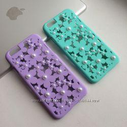 Чехол 3D Жемчужный цветок на iPhone 66S