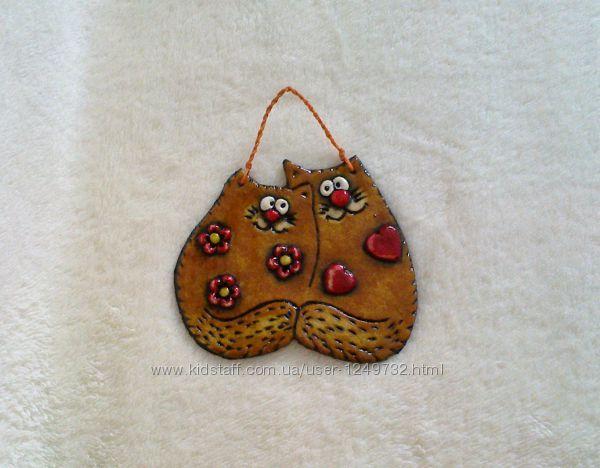 Влюбленные коты  настенный декор