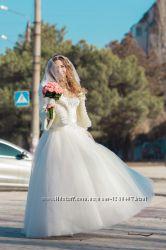 Свадебное эксклюзивное платье Шанель, очень красивое