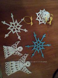 Ажурные снежинки на елку и для украшения