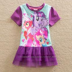 Нарядные туники My little pony 104-128, два цвета