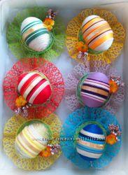 Пасхальный набор яиц, писанки, великодній декор