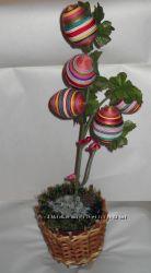 пасхальний декор, великоднє деревце, топіарій
