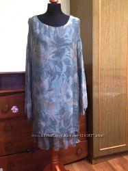 Шикарное платье натуральный шелк