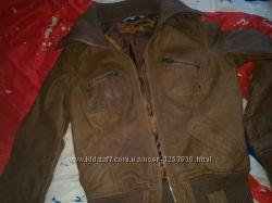 Куртка нат. кожа р. 12 рыжая