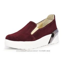 Слипоны женские  Winner Boots натуральная кожа замша осень Украина гарантия