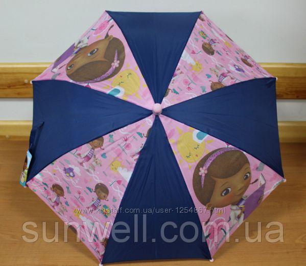 Зонтик детский для девочки Доктор Плюшева, 65см