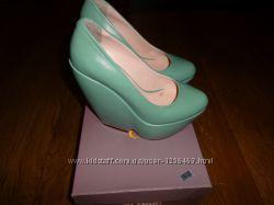 Бирюзовые туфли Paoletti. Турция. 37 размер.
