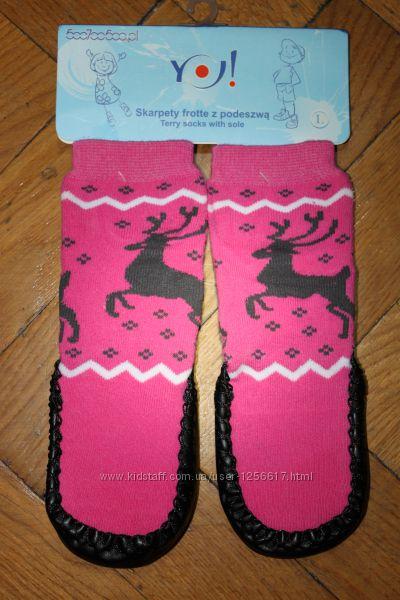 Махровые носки-чешки для девочки