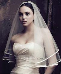 Фата свадебная с лентой