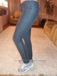 Котоновые брюки-скинни для девчонок