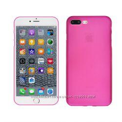Чехол для iphone 7 чехлы на айфон 7 силиконовый розовый