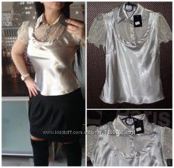 Красивейшая блуза металлик, р. S