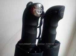 Зонт полуавтомат-10 толстых спиц карбон, ручка под пальцы.