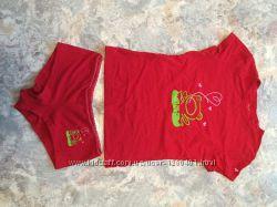 Трусики и футболка Атлантик  комплект, новый, оригинал atlantic