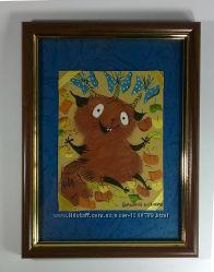 Веселая Яркая картина Шуршание листиками Классный подарок