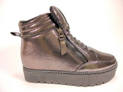 Модные, демисезонные ботинки- сникерсы на скрытой танкетке. Размеры 36-41.