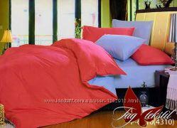 Однотонные 1. 5-спальные комплекты постельного белья